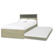 เตียงนอน 3.5 ฟุต 2 ชั้น รุ่น B1141 สีโซลิคโอ๊ค