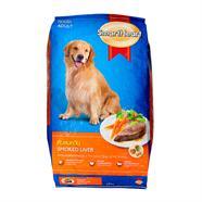 SMARTHEART อาหารสุนัขโต รสตับรมควัน 10 Kg.