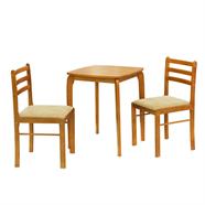 FINEXT ชุดโต๊ะอาหาร 2 ที่นั่ง รุ่น DG1001M สีวอลนัท
