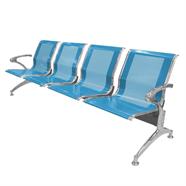 เก้าอี้รับรอง FINEXT รุ่น AL-029A/D104 4 แถว สีฟ้า