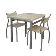 HOFF ชุดโต๊ะอาหารไม้ 2 ที่นั่ง รุ่น HF01017X สีโอ๊คเข้ม