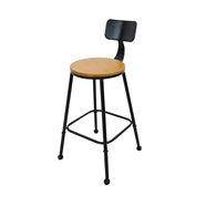HOFF เก้าอี้บาร์ไม้สน รุ่น PWC-2 สีน้ำตาล