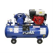 PUMA ปั้มลม 2 HP x 148 ลิตร พร้อมเครื่องยนต์เบนซิน 9HP สีน้ำเงิน