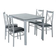 HOFF ชุดโต๊ะอาหาร 4 ที่นั่ง รุ่น D01157 สีโครเมียม
