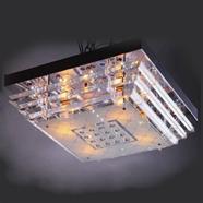 VANEZZA โคมไฟถาดคริสตัล LED 45x45 ซม. รุ่น 901