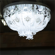 VANEZZA โคมไฟถาดคริสตัล LED 50 ซม. สีขาว รุ่น 20137