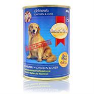 SMARTHEART อาหารลูกสุนัข รสเนื้อไก่ และตับ 400 g.