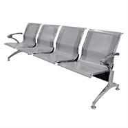 เก้าอี้รับรอง FINEXT รุ่น AL-029A/D104 4 แถว สีเทา
