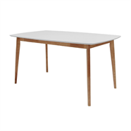HOFF โต๊ะอาหารโมเดิร์น 1.50 เมตร รุ่น ARTHUR 102 สีขาว