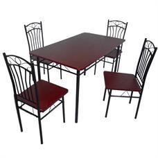 FINEXT ชุดโต๊ะอาหารเมลามีน 4 ที่นั่ง รุ่น DS-022