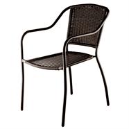 FINEXT เก้าอี้เหล็กสานหวายเทียม รุ่น TLH-041 สีน้ำตาล