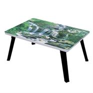 โต๊ะญี่ปุ่นเหลี่ยม ขาPP OEM 24x24 นิ้ว ลายน้ำตกห้วยขมิ้น