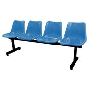 เก้าอี้รับรองโพลี 4 แถว รุ่น MO-175 สีน้ำเงิน