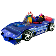 NOBU เตียงนอนไม้รถแฮมตัน 3 ฟุต รุ่น 3065-SB สีน้ำเงิน