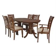 FINEXT ชุดโต๊ะอาหารไม้ 6 ที่นั่ง รุ่น 7039T/8042CA