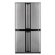 SHARP ตู้เย็น SIDE BY SIDE 4 ประตู 20.6Q รุ่น SJ-F70RV-SL สีเทา