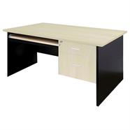 SMART OFFICE โต๊ะสำนักงาน 1.20 เมตร รุ่น 1260H2-K สีเชอร์รี่ดำ