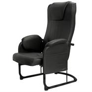 เก้าอี้พักผ่อนหนัง MERCURY สีดำ