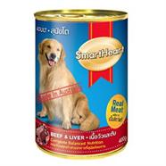 SMARTHEART อาหารลูกสุนัข รสเนื้อวัว และตับ 400 g.