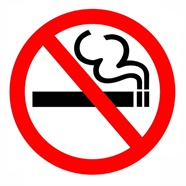 OEM สติ๊กเกอร์ PVC ห้ามสูบบุหรี่ ขนาดเล็ก รุ่น P301