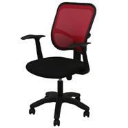 เก้าอี้สำนักงานผ้า FINEXT รุ่น BN01/A สีดำ/สีส้ม
