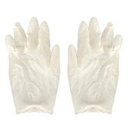ถุงมือยาง มอก. สีขาว