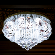 VANEZZA โคมไฟถาดคริสตัล LED 60 ซม. สีม่วง รุ่น 2754