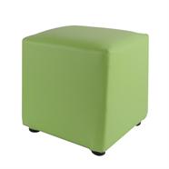 สตูลหนังเหลี่ยม OEM รุ่น KJ-01 สีเขียว