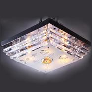 VANEZZA โคมไฟถาดคริสตัล LED 45x45 ซม. รุ่น 902