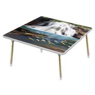 โต๊ะญี่ปุ่นเหลี่ยม ขาเหล็ก OEM 24x24 นิ้ว ลายน้ำตกก้อหลวง