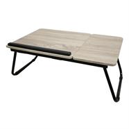 โต๊ะไม้แลปท็อป ขาพับเหล็ก OEM 55x23 ซม.