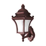โคมไฟผนังนอก 1L ลายไม้ 16 นิ้ว รุ่น W26-W สีน้ำตาล