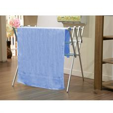 FINEXT ผ้าขนหนูเส้นคาด 27x54 นิ้ว สีฟ้าคราม