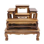 โต๊ะหมู่บูชาไม้สัก 5 หน้า 4 นิ้ว