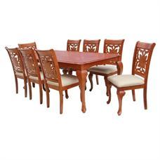 FINEXT ชุดโต๊ะอาหารไม้ 8 ที่นั่ง รุ่น 7062T/8080