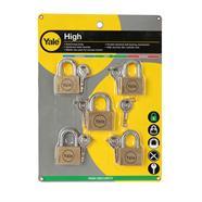 กุญแจคีย์อะไลท์ 45 มม. YALE รุ่น BD45-50M5 สีเหลือง