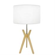 HOFF โคมไฟตั้งโต๊ะ โป๊ะผ้า ขาไม้ รุ่น 201533