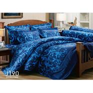 ผ้าปูที่นอน JESSICA รุ่น J190 6 ฟุต 5 ชิ้น ลายฟลอร่าสีน้ำเงิน