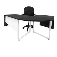 MASS ชุดโต๊ะทำงานไม้ 1.80 เมตร รุ่น ROVERSETSA47 สีโอ๊คขาว