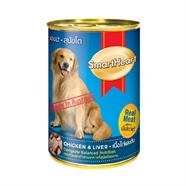 SMARTHEART อาหารลูกสุนัข รสเนื้อไก่ และตับ 680 g.