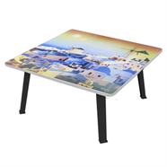 โต๊ะญี่ปุ่นเหลี่ยม ขาPP OEM 24x24 นิ้ว ลายเกาะซานโตรินี่