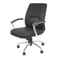 FINEXT เก้าอี้สำนักงานหนัง รุ่น H-8701L-2 สีดำ