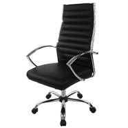 FINEXT เก้าอี้สำนักงานหนัง รุ่น H-9088L-1 สีดำ