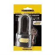 กุญแจคอยาว 50 มม. YOSHINO รุ่น YN L50 สีดำ