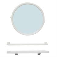 PIXO กระจก PVC กลมชุด รุ่น MS05 สีขาว