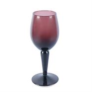 แจกันแก้ว 6.5 นิ้ว สีม่วง OEM รุ่น SDS-04
