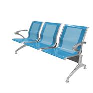 เก้าอี้รับรอง FINEXT รุ่น AL-029B/D103 3 แถว สีฟ้า