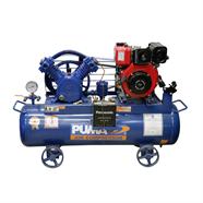 PUMA ปั้มลม 3 HP x 165 ลิตร พร้อมเครื่องยนต์ดีเซล 6 HP สีน้ำเงิน