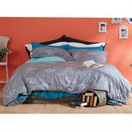 ผ้าปูที่นอน LOTUS รุ่น LI-029 5 ฟุต 5 ชิ้น ลายดอกคัตเตอร์ สีเทา