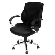 FINEXT เก้าอี้สำนักงานหนัง รุ่น H-9582L-2K สีดำ